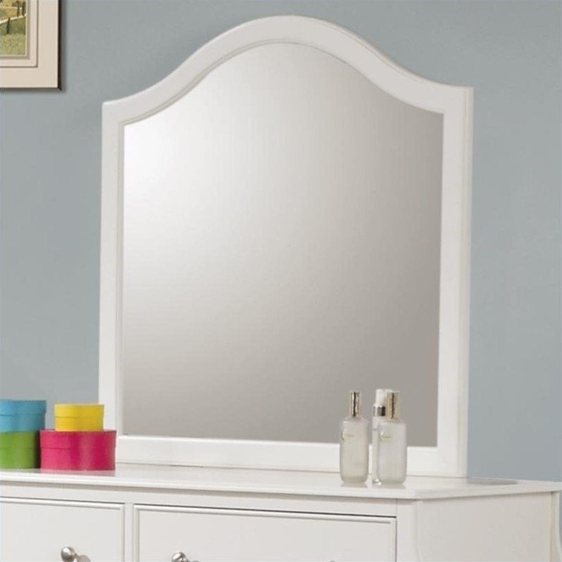 Best Coaster Company Dominique Bedroom Mirror White Walmart Com With Pictures