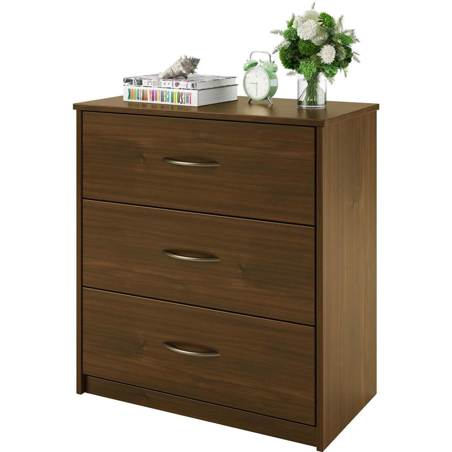Best 3 Drawer Dresser Chest Bedroom Furniture Black Brown White With Pictures