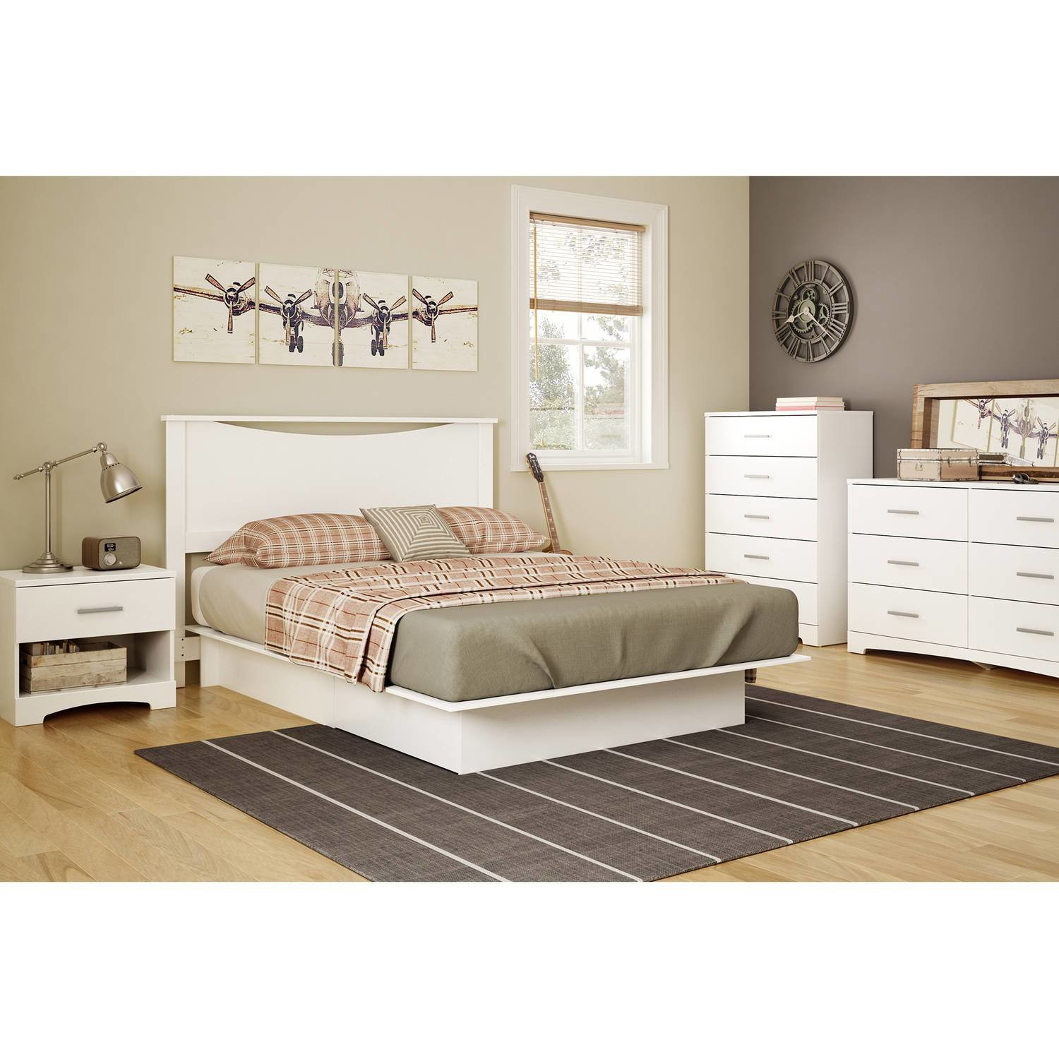 Best White Platform Bed Full Queen Size With Drawers Bedroom With Pictures