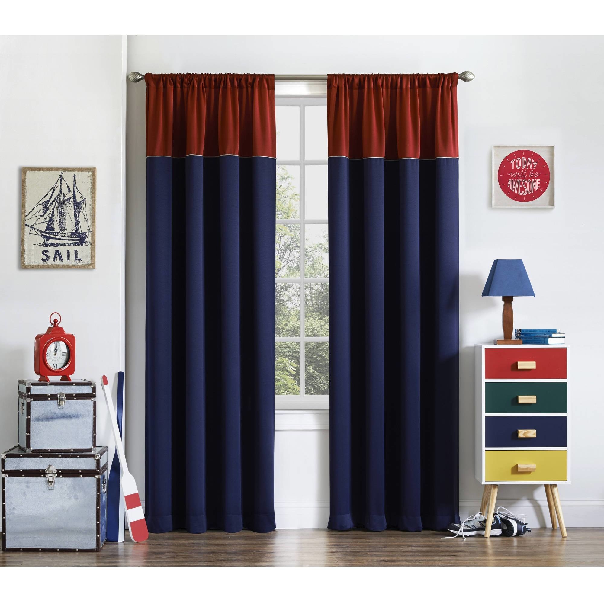 Best Eclipse Luna Room Darkening Kids Bedroom Curtain Walmart Com With Pictures