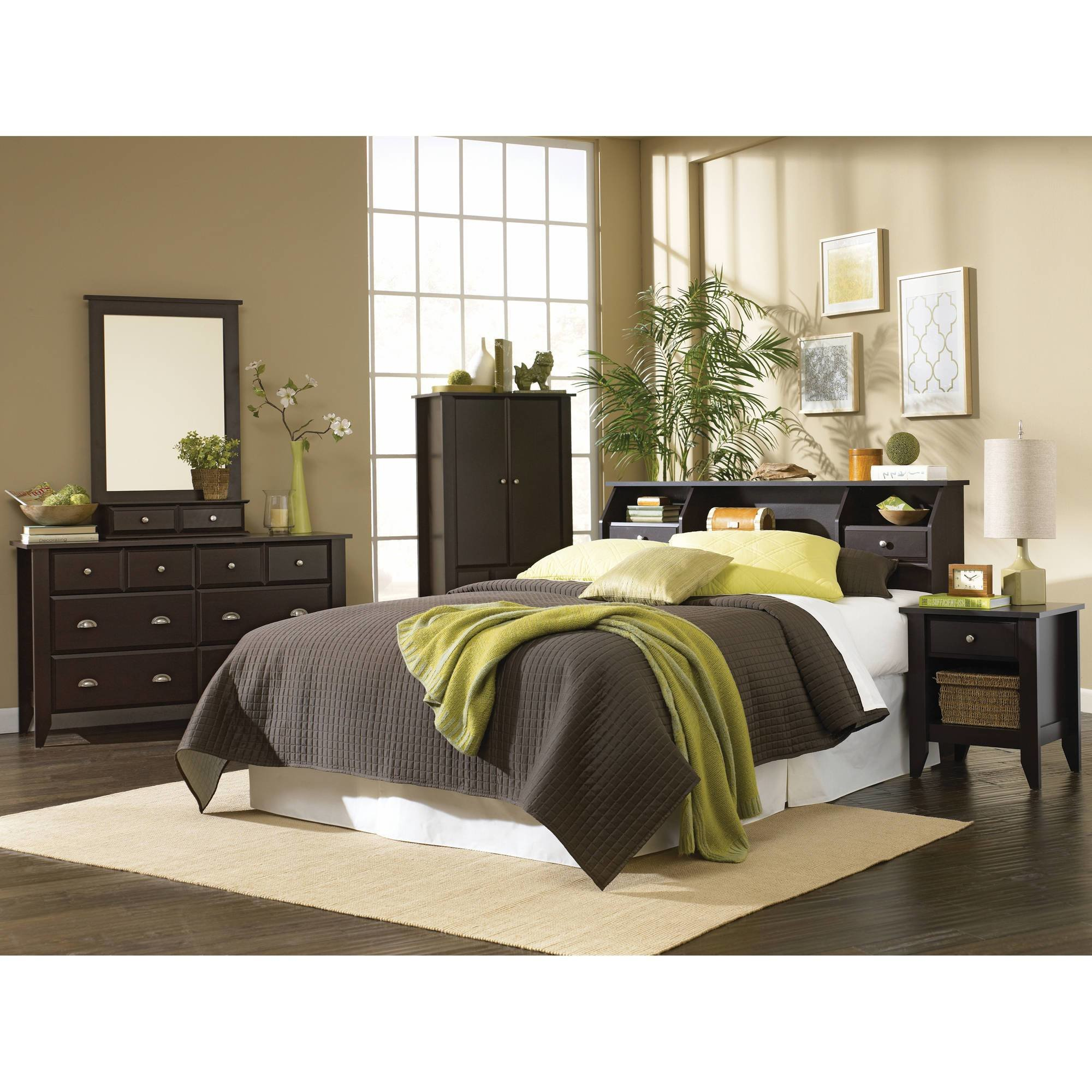 Best Headboard Full Queen Size Bed Bedroom Furniture Bookcase Storage Drawers Shelf 692621242527 Ebay With Pictures
