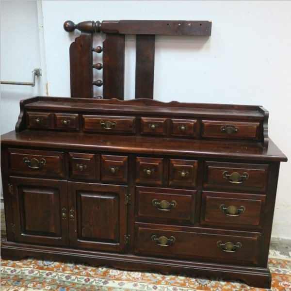 Best Link Taylor Solid Settlers White Pine Bedroom Set With Pictures