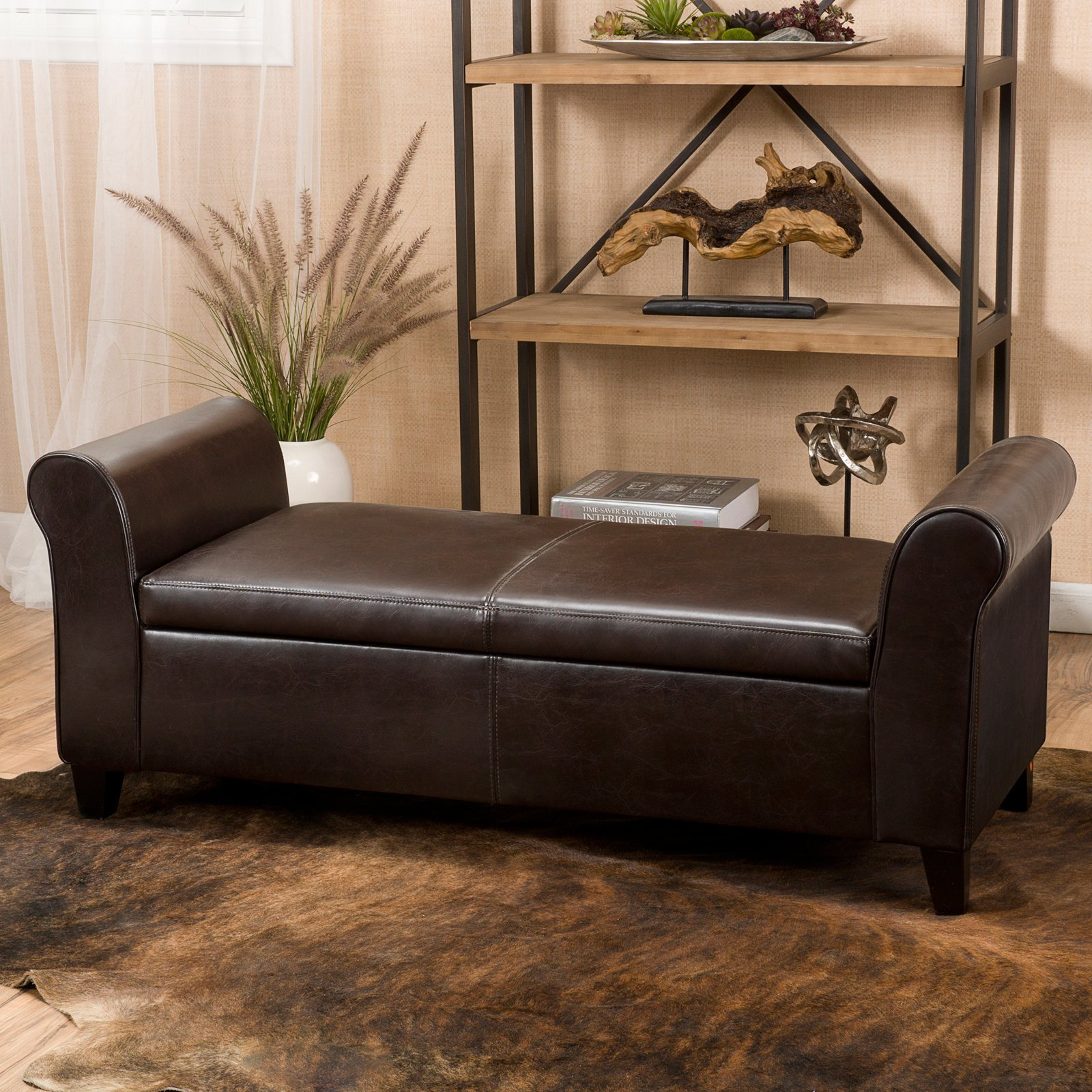 Best Selling Home Martin Faux Leather Bedroom Bench With With Pictures
