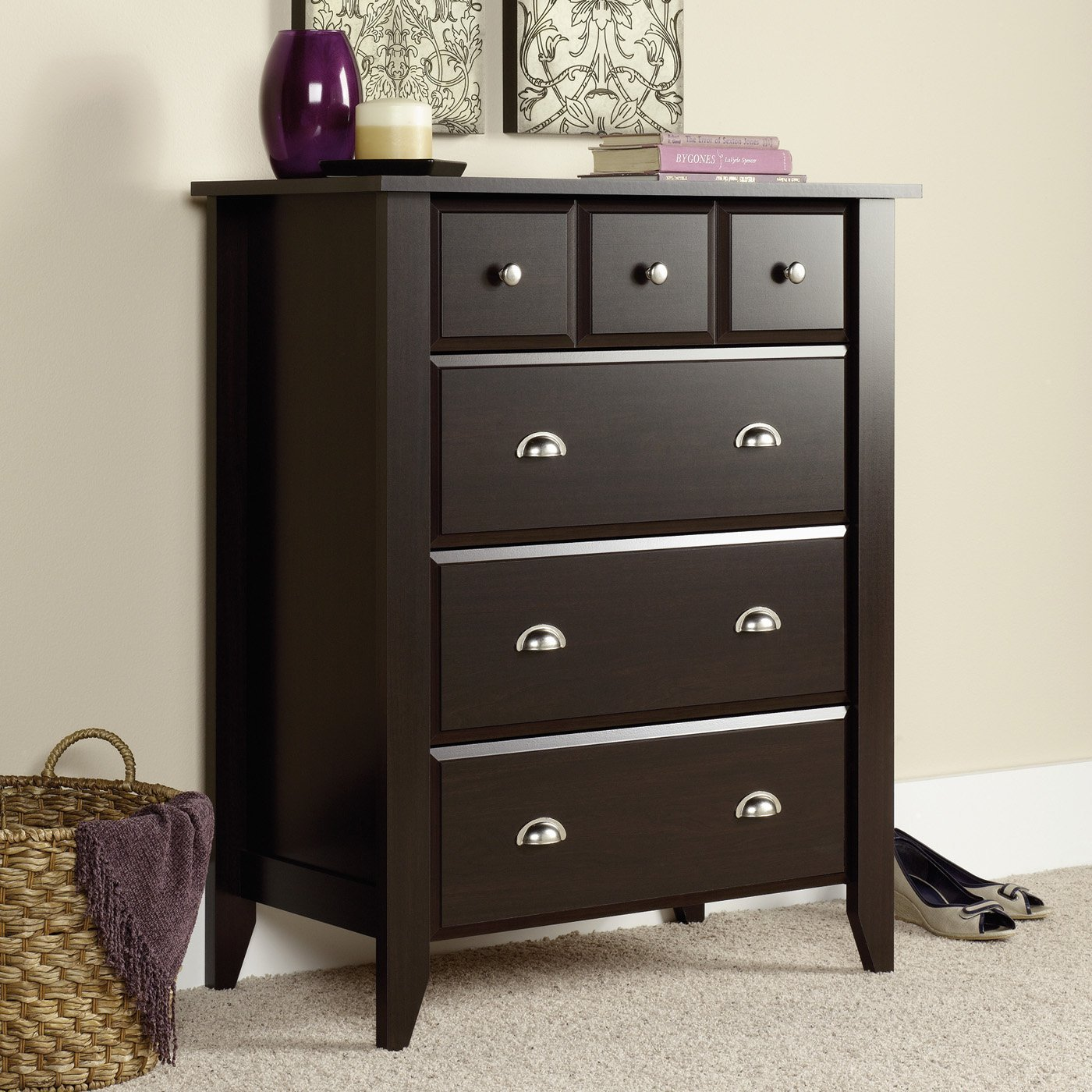 Best Sauder Shoal Creek 4 Drawer Chest Atg Stores With Pictures