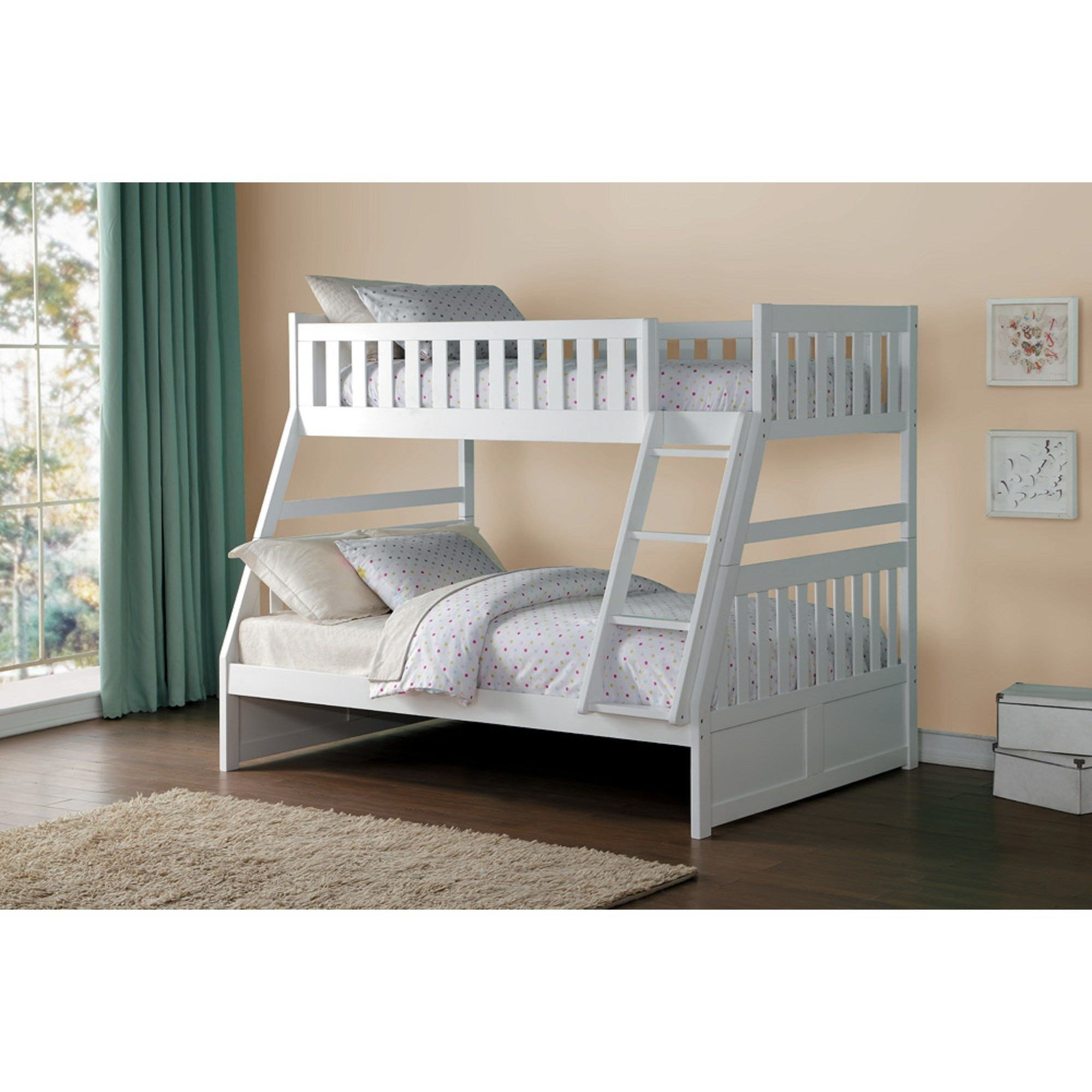 Best Homelegance Galen Twin Over Full Bunk Bed Darvin With Pictures