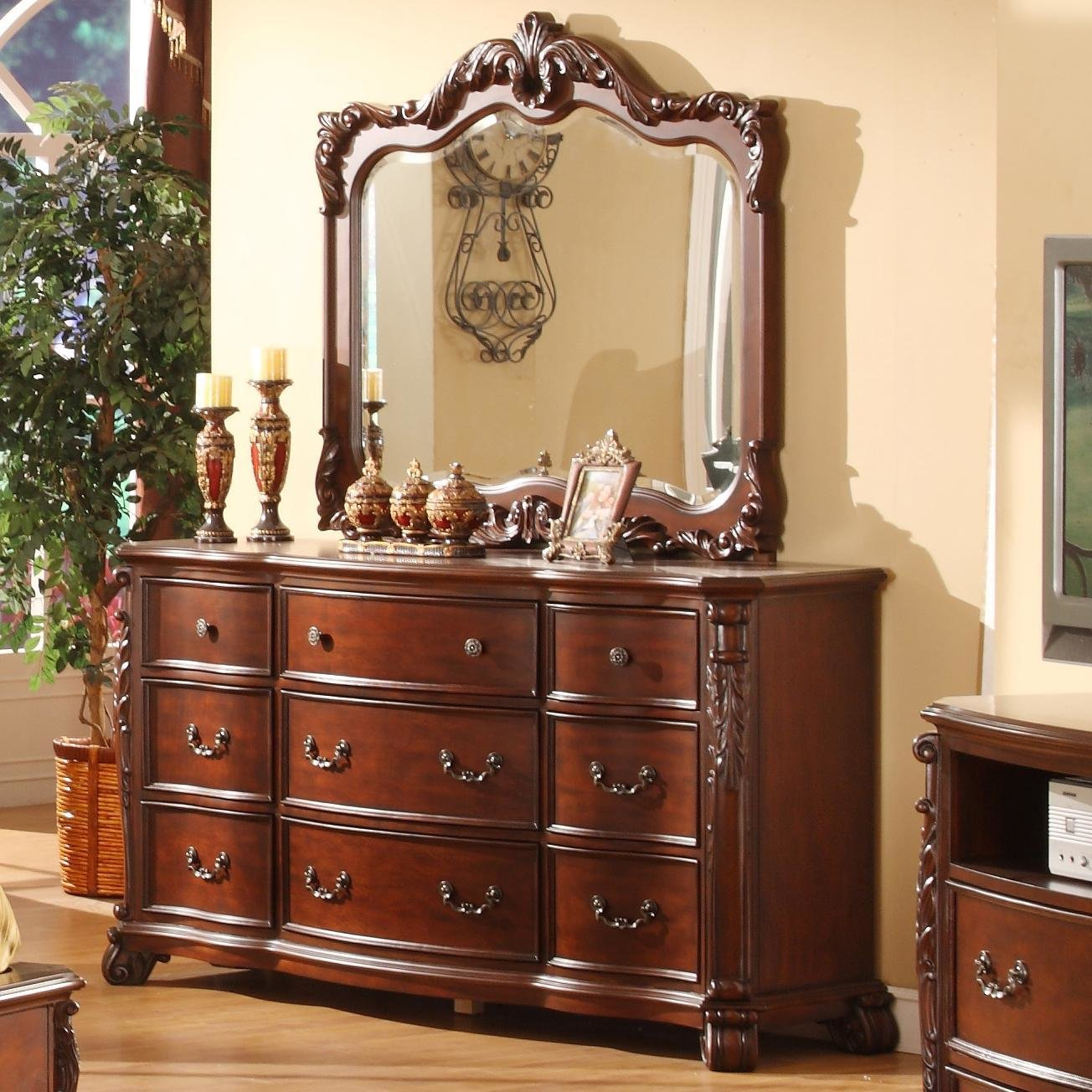 Best Lifestyle Frenchy Traditional 9 Drawer Dresser And Mirror With Pictures
