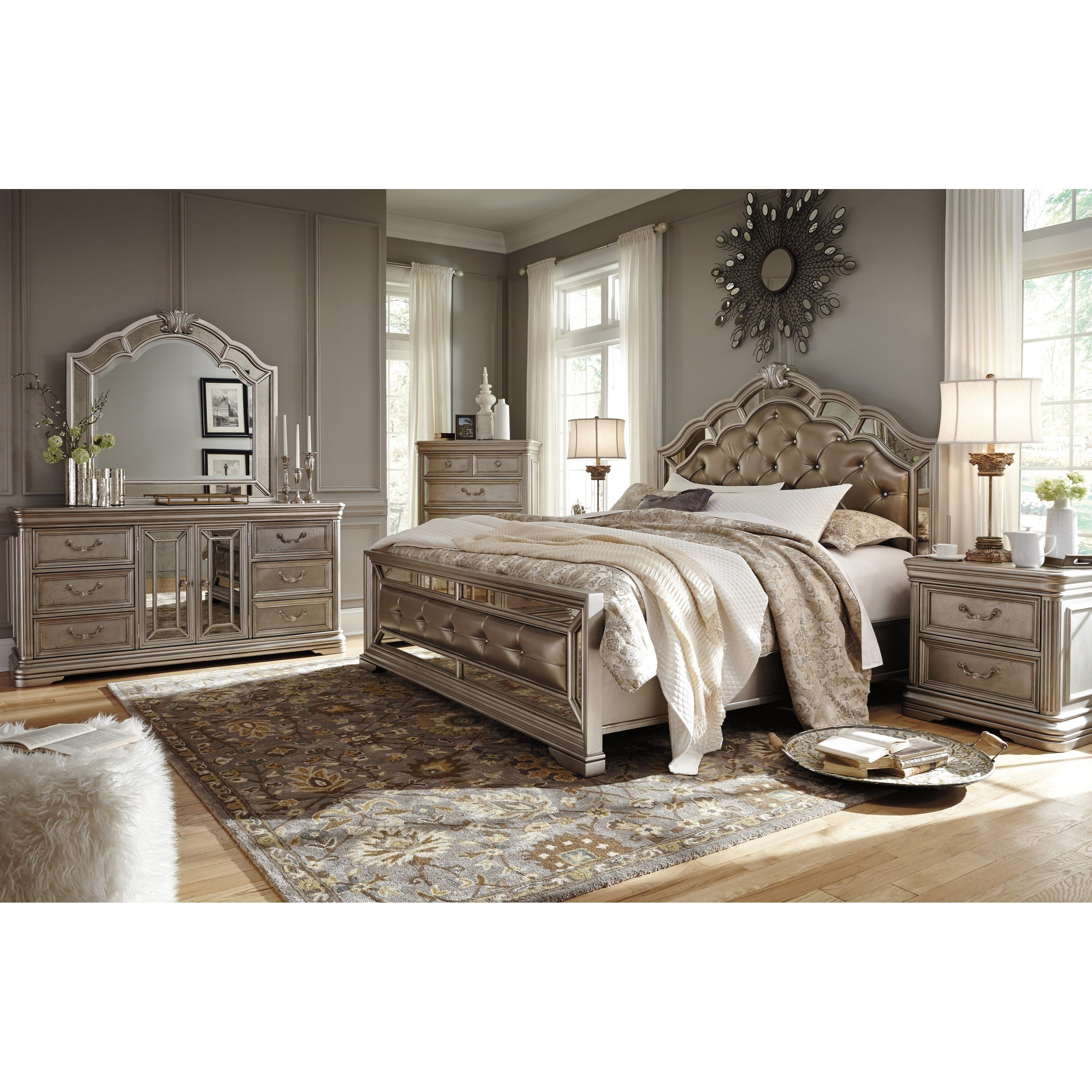 Best Signature Design By Ashley Birlanny King Bedroom Group With Pictures