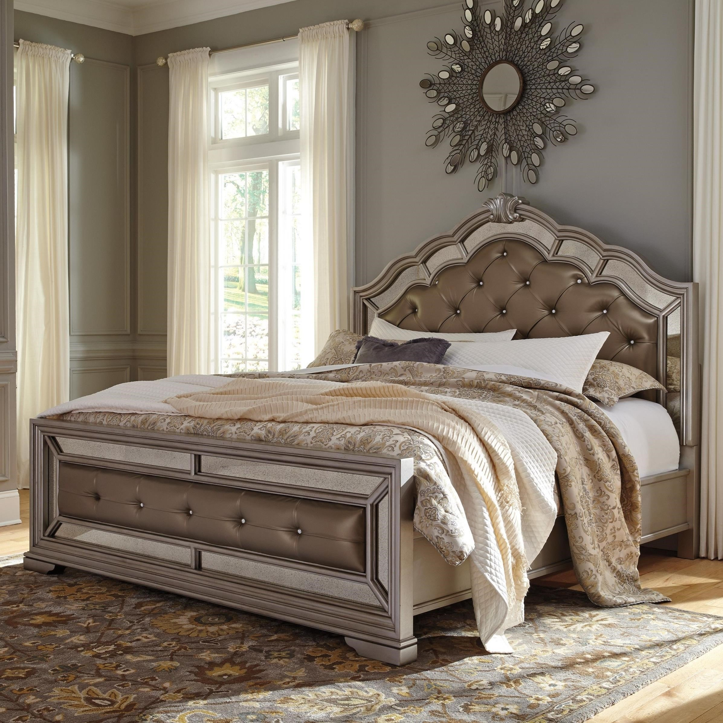 Best Signature Design By Ashley Birlanny King Upholstered Bed With Pictures
