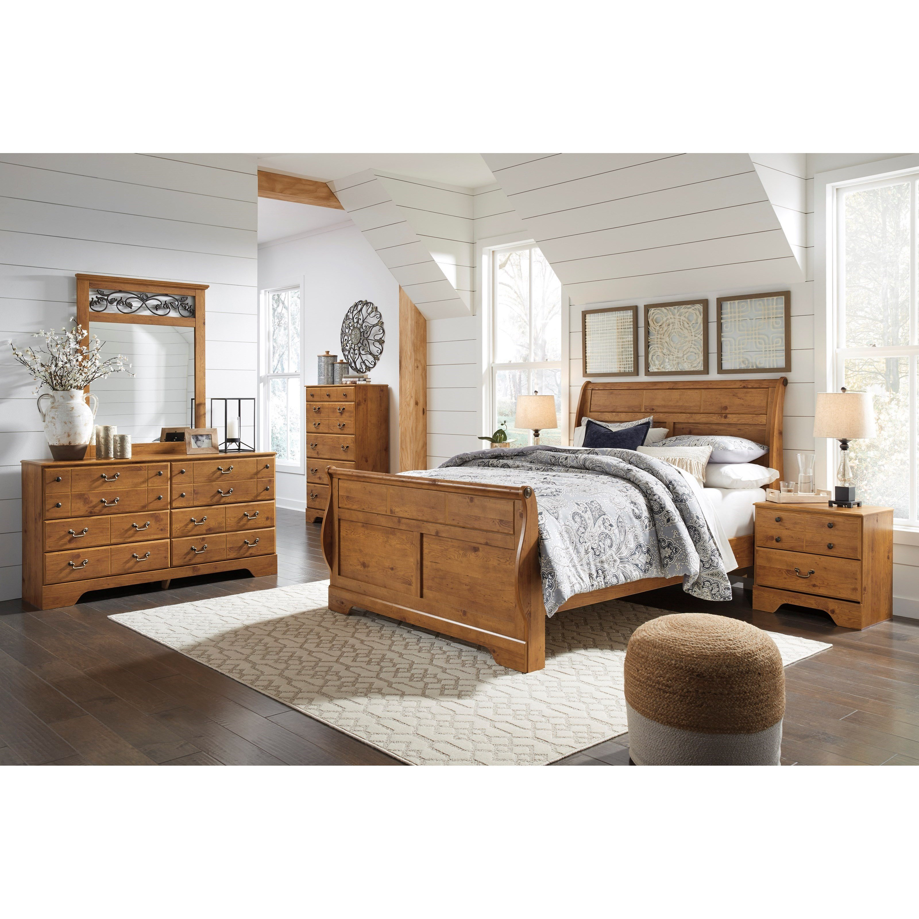 Best Signature Design By Ashley Bittersweet King Sleigh Bedroom With Pictures