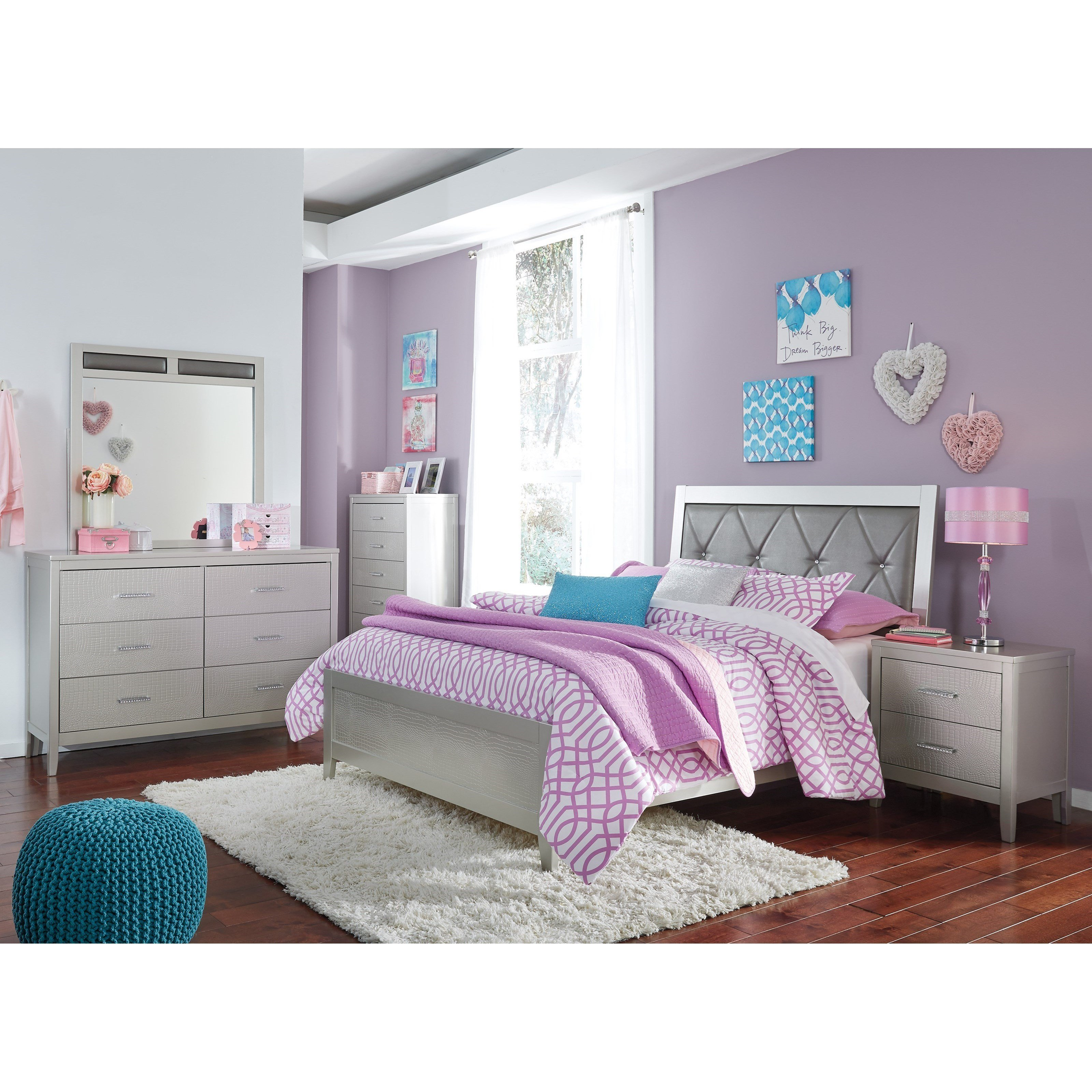 Best Signature Design By Ashley Olivet Glam Full Bedroom Group With Pictures