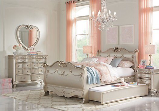 Best Disney Princess Silver 6 Pc Twin Sleigh Bedroom With Pictures