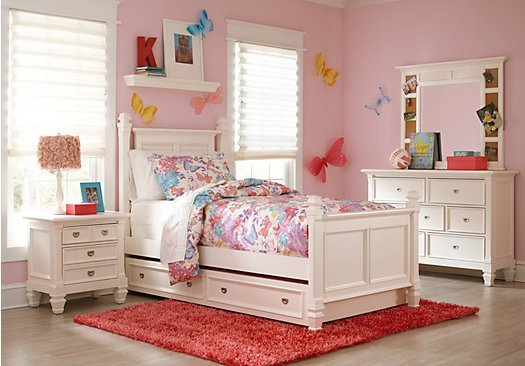 Best Belmar White 5 Pc Full Poster Bedroom With Pictures