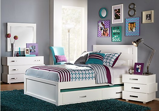 Best Quake White 5 Pc Full Panel Bedroom With Pictures