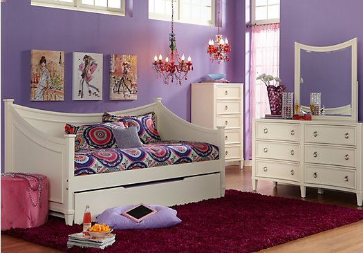 Best Jaclyn Place Ivory Off White 3 Pc Daybed Bedroom With Pictures