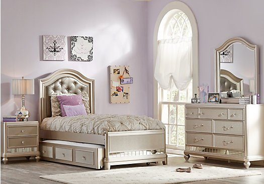 Best Petit Paris Champagne 6 Pc Twin Panel Bedroom With Pictures