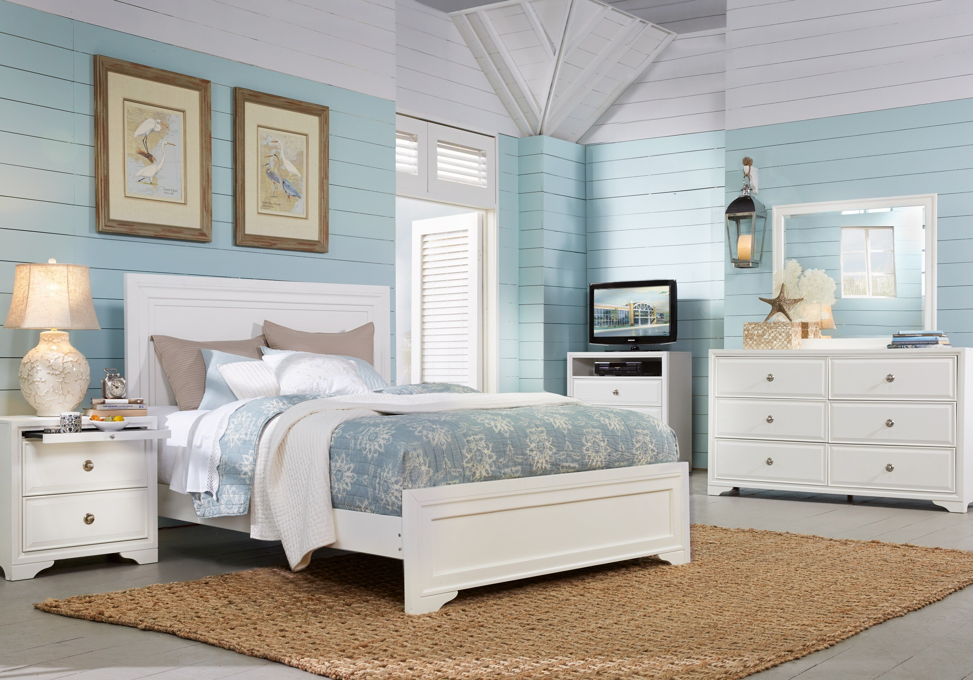 Best Belcourt White 7 Pc Queen Panel Bedroom Queen Bedroom With Pictures