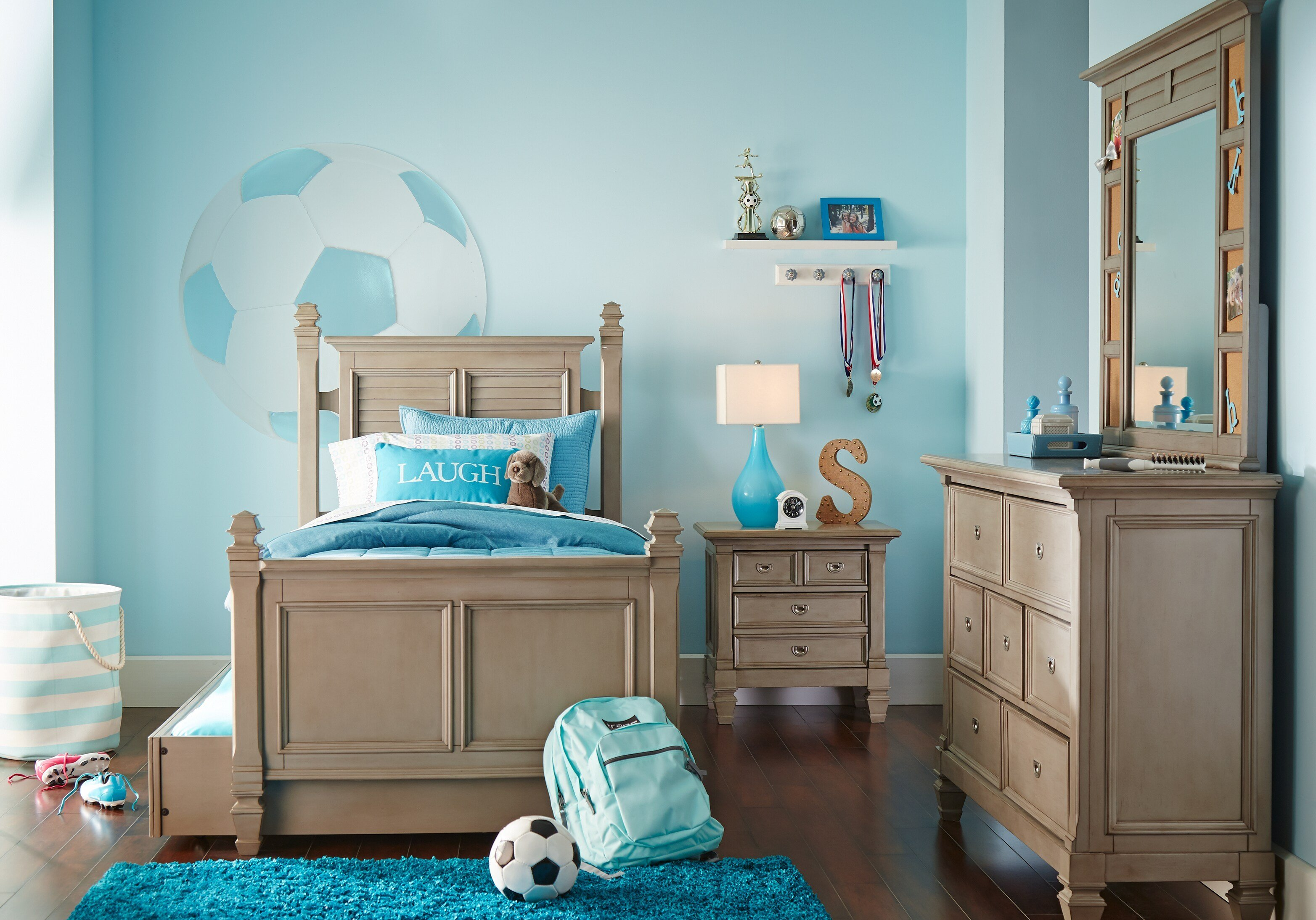 Best Belmar Gray 5 Pc Full Poster Bedroom T**N Bedroom Sets Colors With Pictures