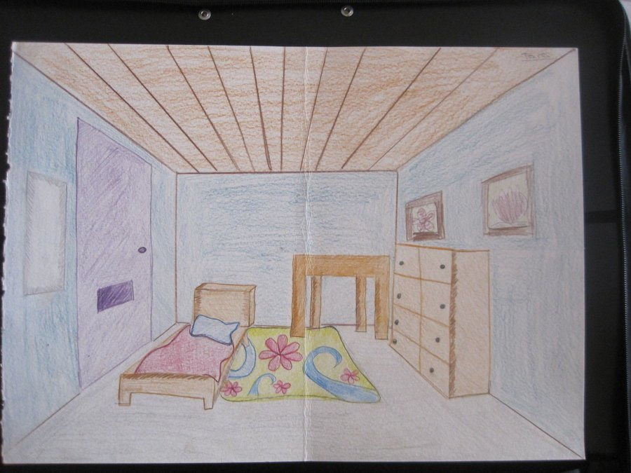 Best 3 Point Perspective Bedroom By Tlc12 On Deviantart With Pictures