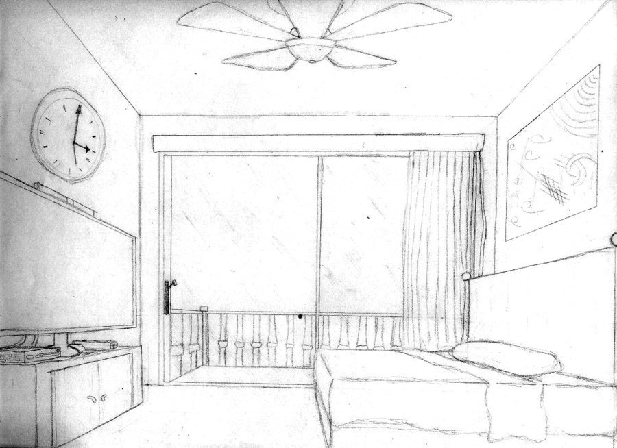 Best 1 Pt Perspective Bedroom By Loreto Arts On Deviantart With Pictures