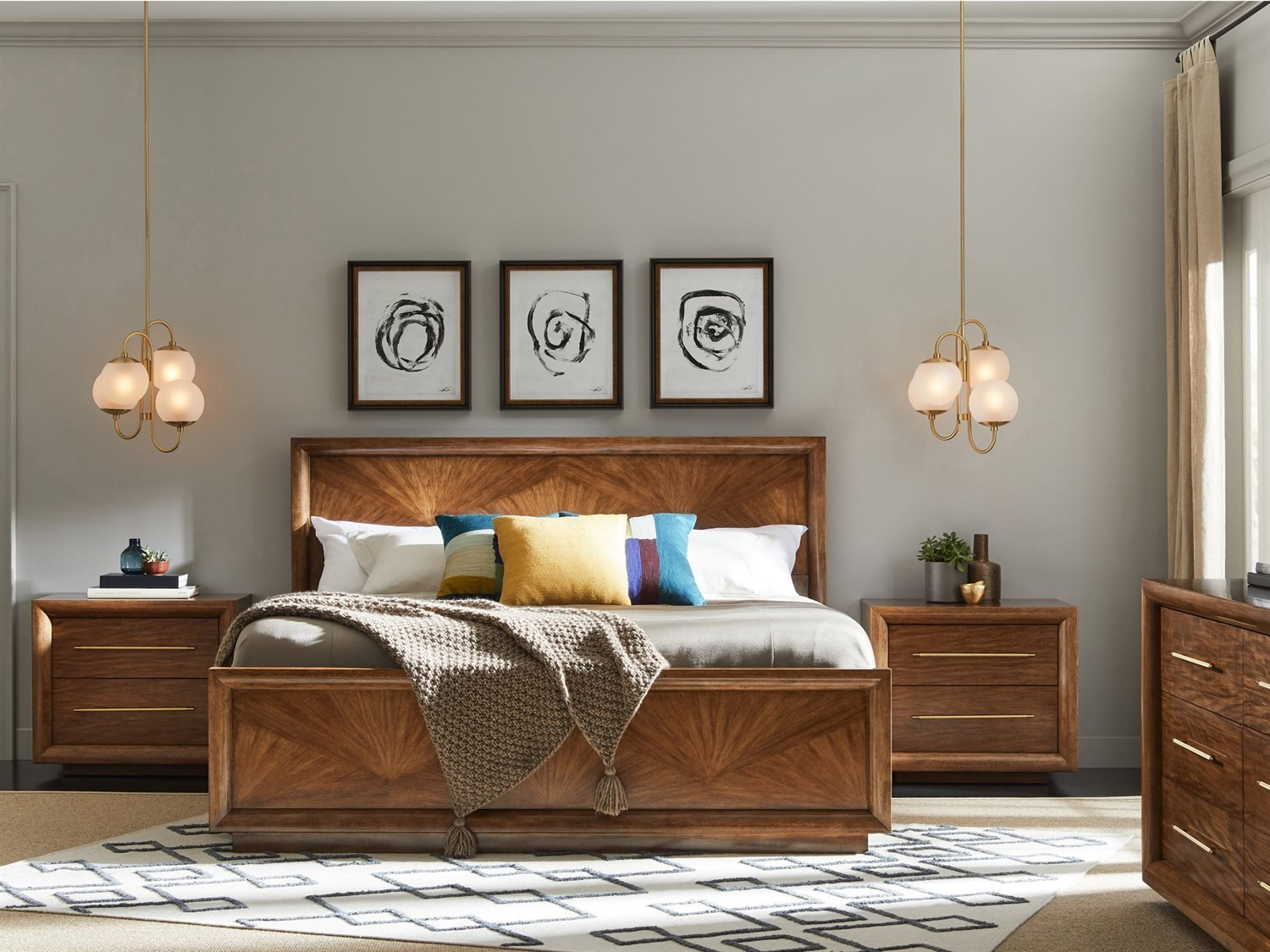 Best Stanley Furniture Panavista Goldenrod Panel Bed Bedroom With Pictures