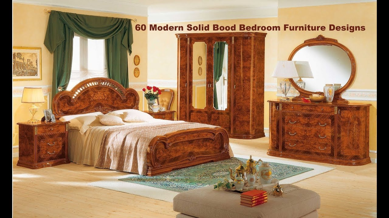Best 60 Modern Solid Wood Bedroom Furniture Designs 2018 Youtube With Pictures