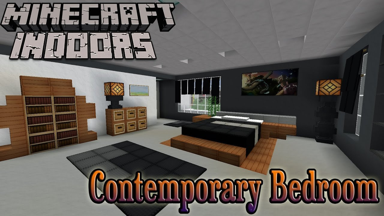 Best Minecraft Indoors Interior Design Contemporary Bedroom Youtube With Pictures