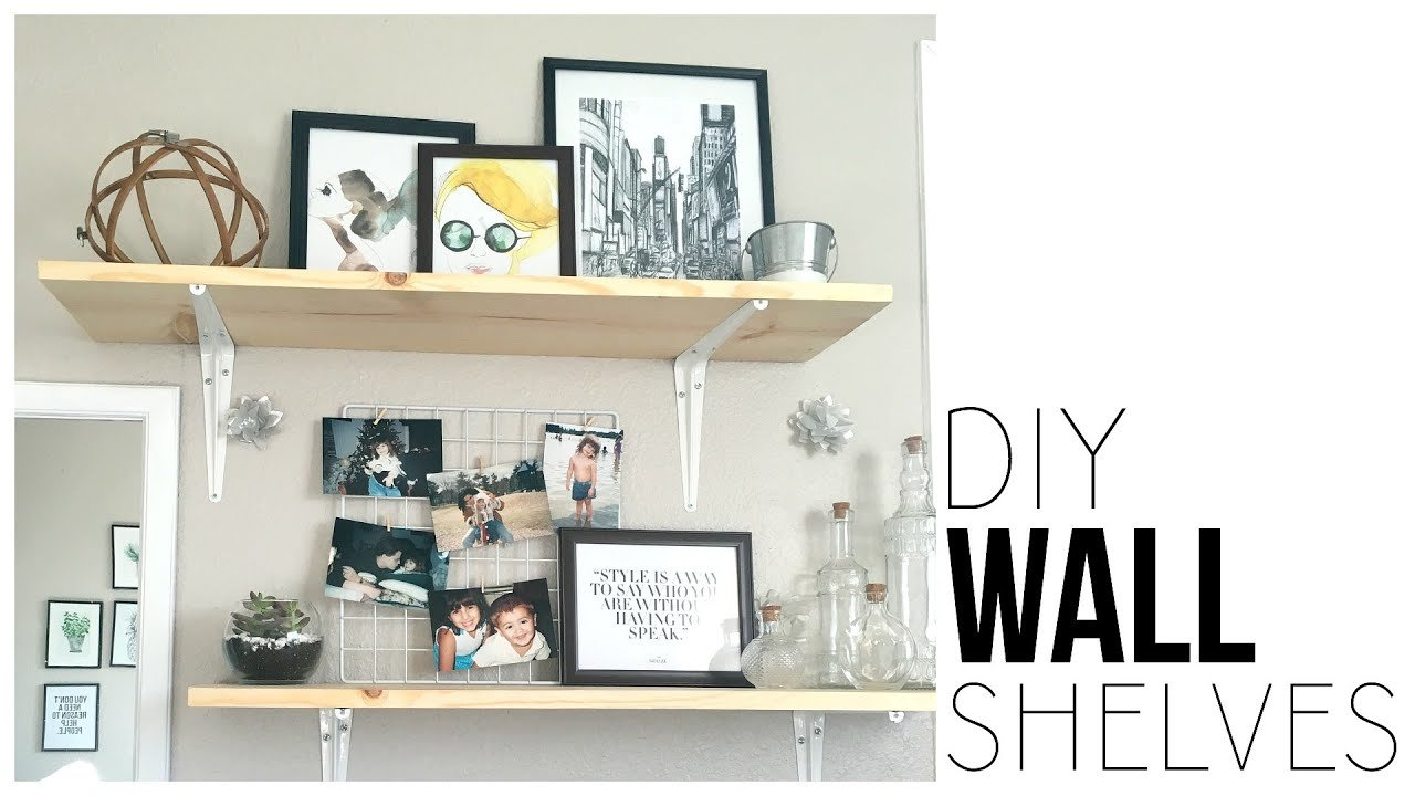 Best Diy Wall Shelves Make Shelves For Under 13 Youtube With Pictures
