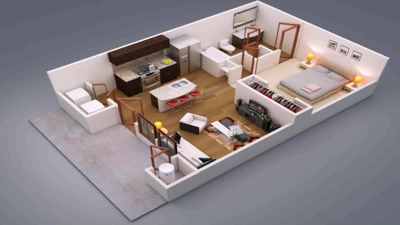 Best 1 Bedroom House Design Ideas Youtube With Pictures