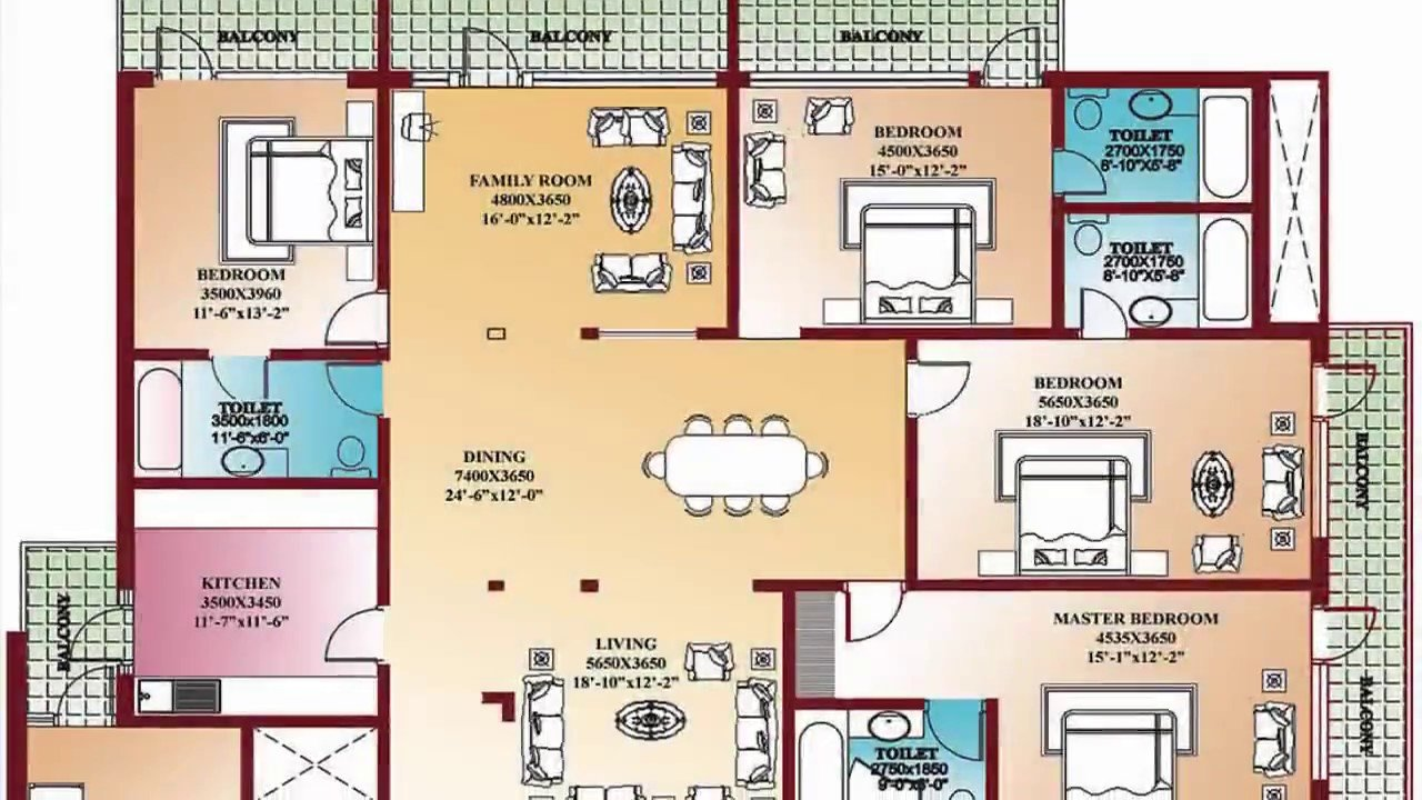 Best 4 Bedroom Floor Plans Home Design Decorating And Improvement Ideas Youtube With Pictures