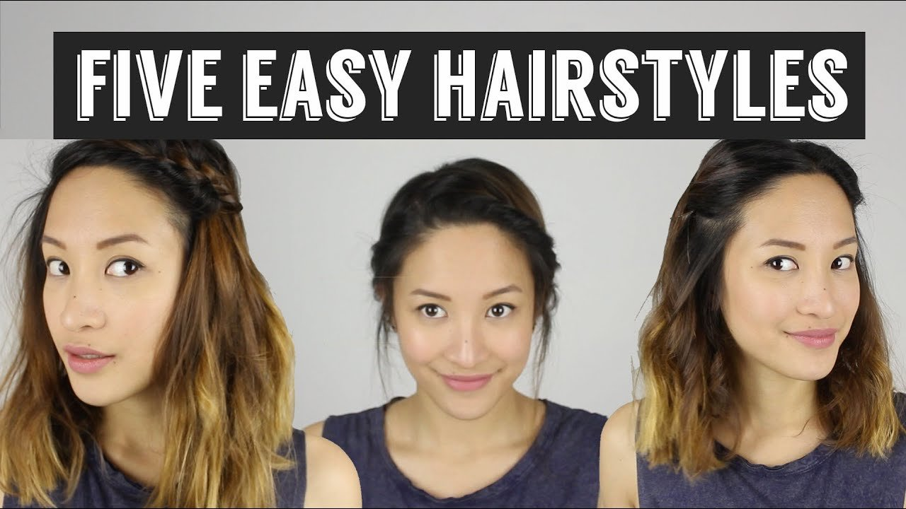 Free Five Quick Easy Hairstyles How To Style Medium Length Wallpaper