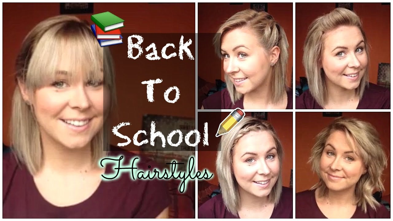 Free Back To School Quick Easy Hairstyles Shoulder Length Hair Youtube Wallpaper