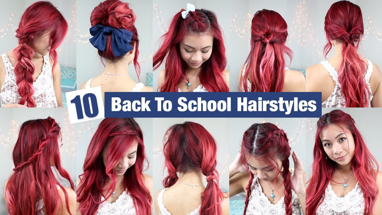 Free 10 Back To School Hairstyles L Quick Easy Hairstyles For Wallpaper