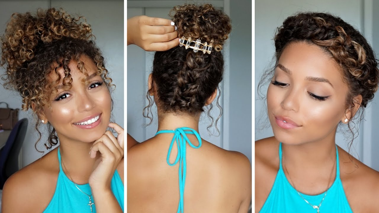 Free 3 Summer Hairstyles For Curly Hair Ashley Bloomfield Wallpaper