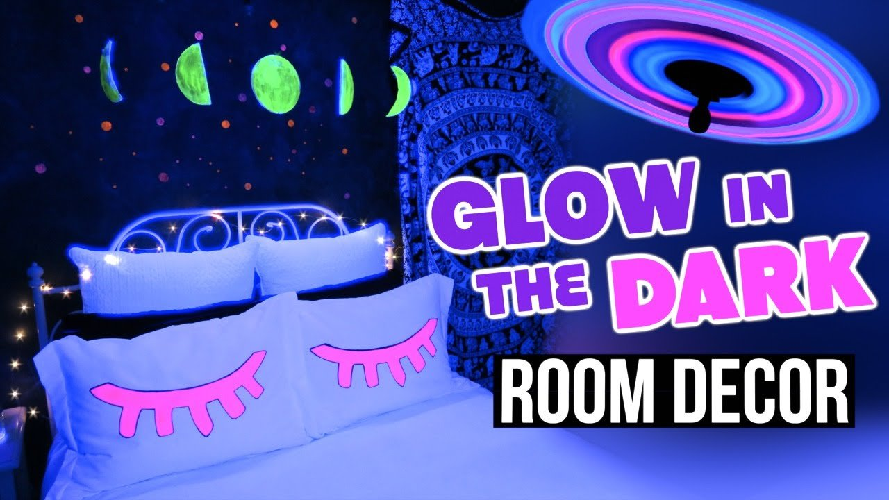 Best Diy Glow In The Dark Room Decor Tumblr Inspired Youtube With Pictures