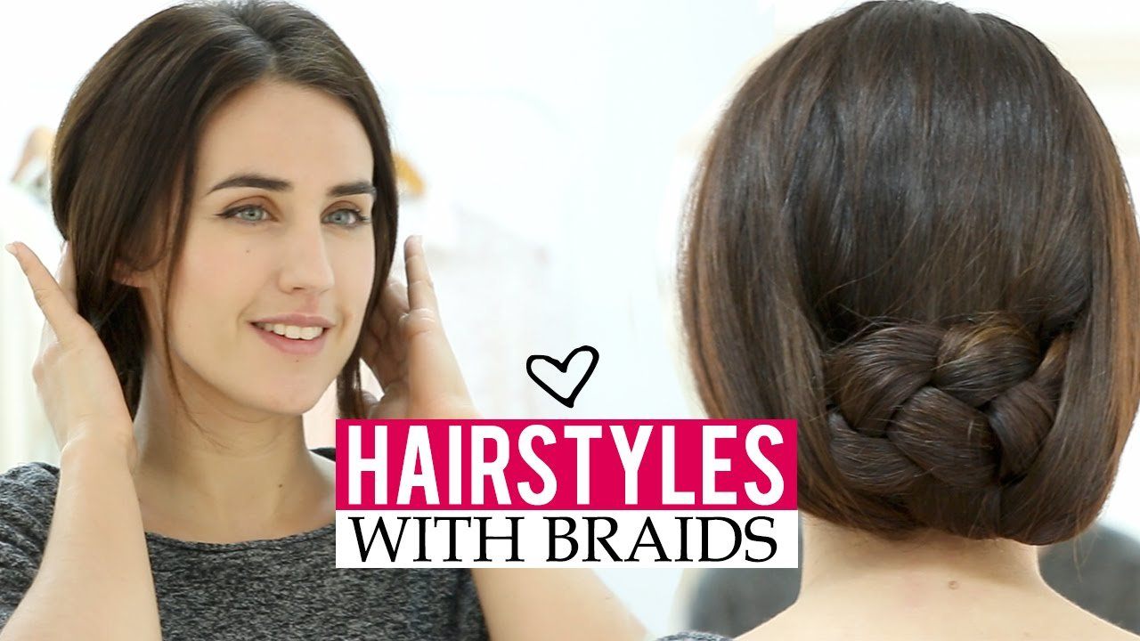 Free Easy Hairstyles With Braids In 5 Minutes Youtube Wallpaper