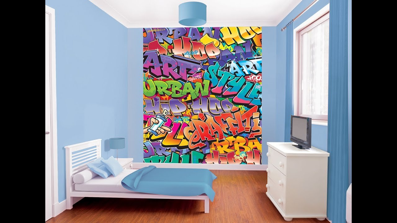 Best Bedroom Wallpaper Graffiti Bedroom Wallpaper Youtube With Pictures