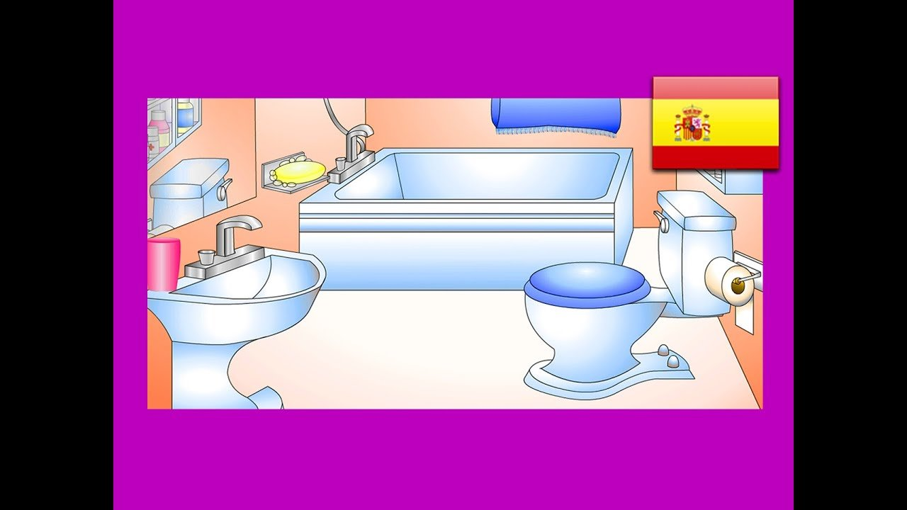 """Best """"In The Bathroom"""" Spanish Lesson 12 Clip – Learn Baño With Pictures"""