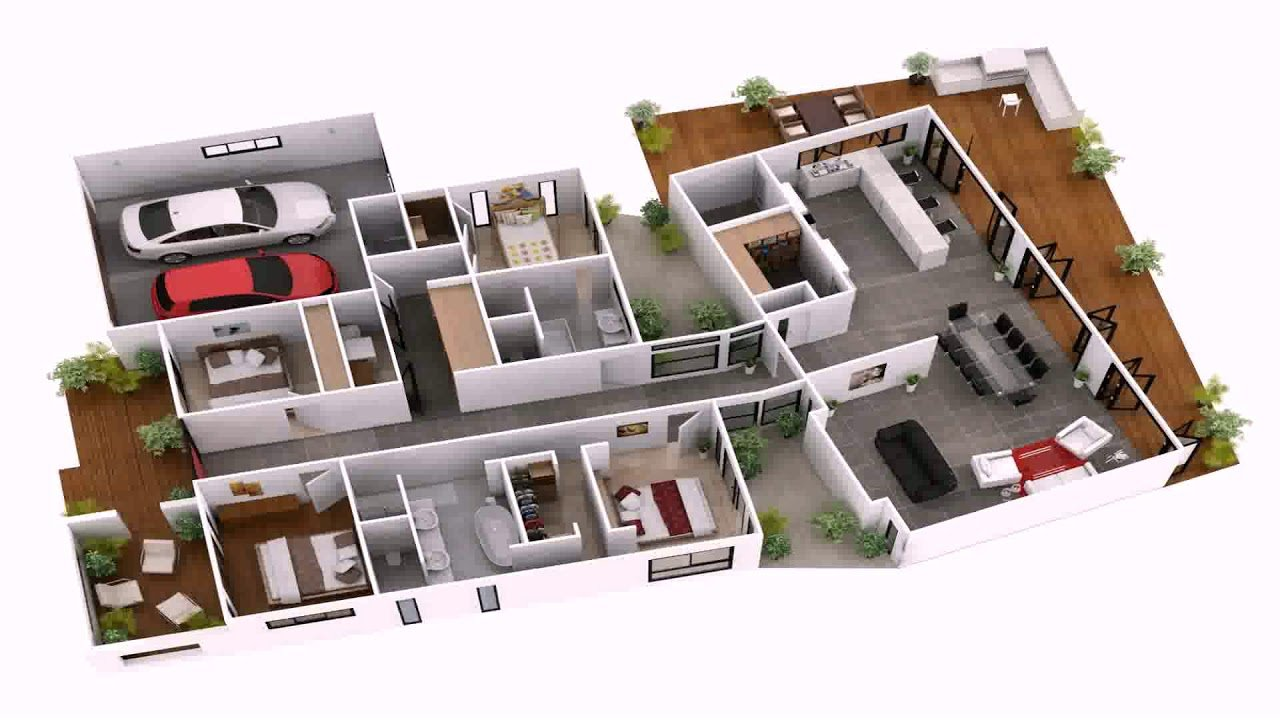 Best 4 Bedroom House Plans Indian Style 3D Gif Maker Daddygif With Pictures