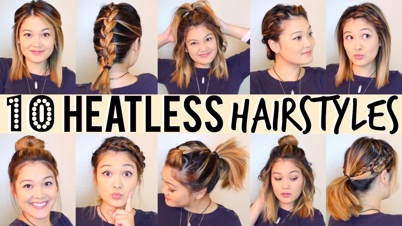 Free 10 Heatless Hairstyles Under 5 Minutes Youtube Wallpaper