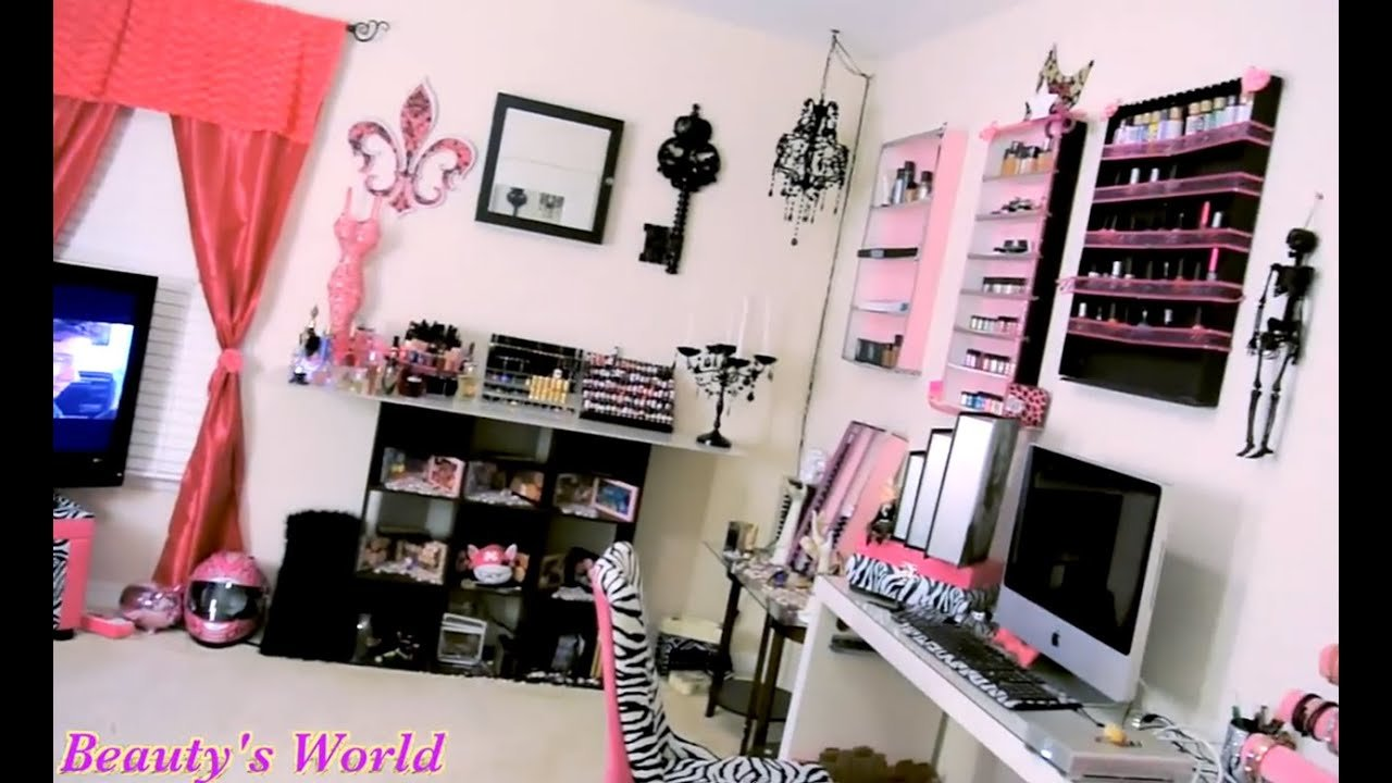 Best Room Tour My Makeup Room Tour Youtube With Pictures