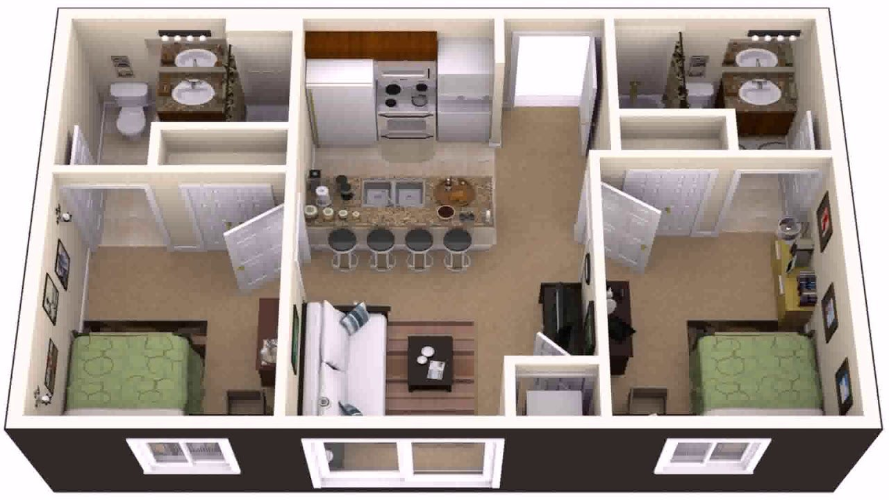 Best Simple 3 Bedroom 2 Bathroom House Plans Gif Maker With Pictures