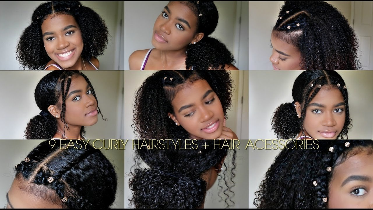 Free 9 Easy Curly Hairstyles Natural Hair Hair Cuffs Youtube Wallpaper