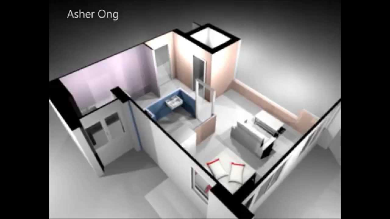 Best 1 Room Hdb Flat Corner 1 Studio Apartment 1Sa Model 3D With Pictures