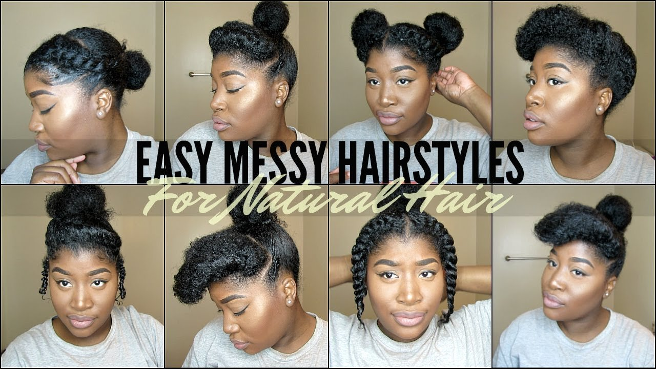 Free 8 Quick Easy Natural Hairstyles For 4 Type Natural Hair Youtube Wallpaper