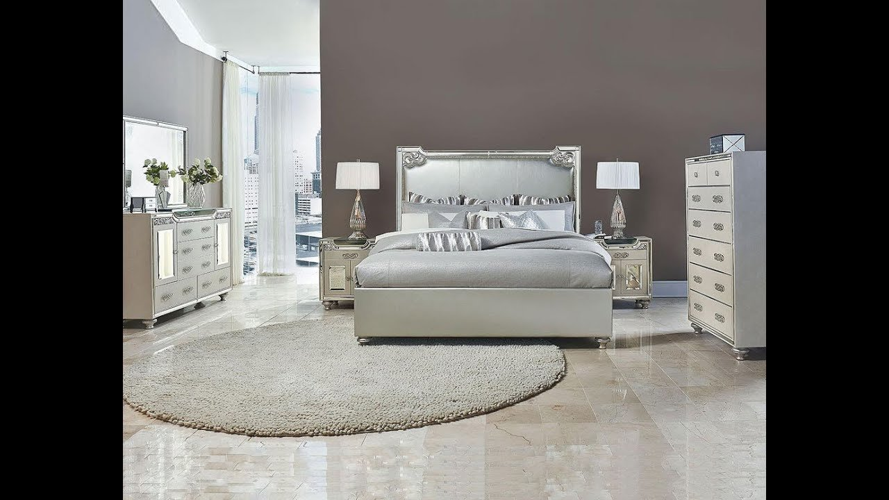 Best Bel Air Park Glam Bedroom Set By Michael Amini Jane Seymour Aico Home Gallery Stores Youtube With Pictures