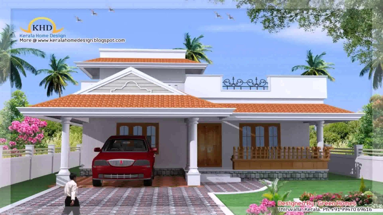Best Kerala Style 3 Bedroom House Plans Youtube With Pictures