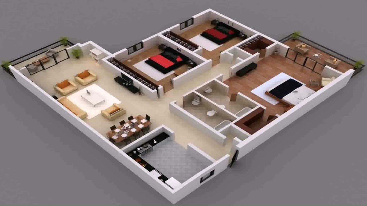 Best Free 3 Bedroom House Plans In Kenya Youtube With Pictures