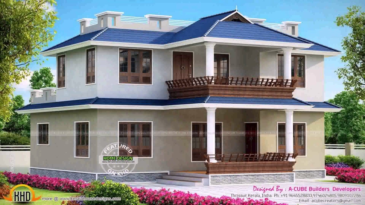 Best 3 Bedroom House Plans In Kerala Model Youtube With Pictures