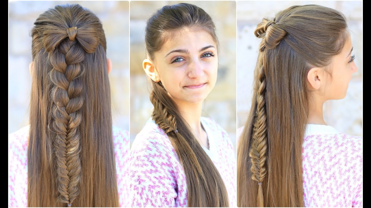 Free Half Up Bow Combo Cute Girls Hairstyles Youtube Wallpaper