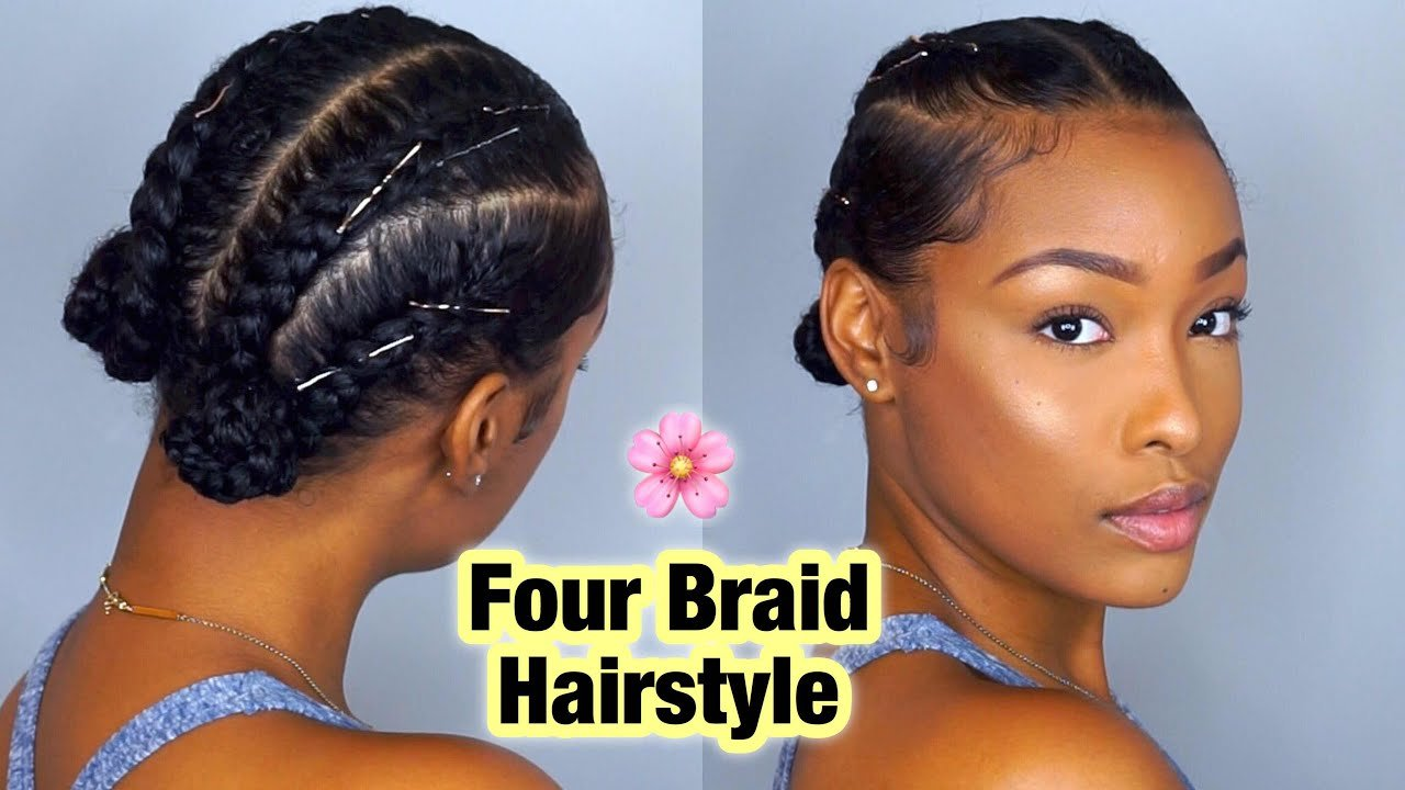Free Simple Four Braid Hairstyle For Natural Hair Wallpaper